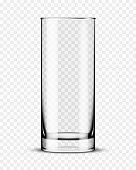 Empty drinking glass.