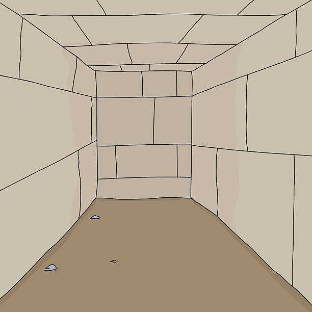empty dungeon room - basement stock illustrations