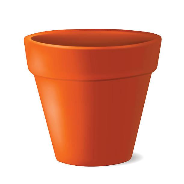 Pot Clip Art ~ Royalty free terracotta pot clip art vector images