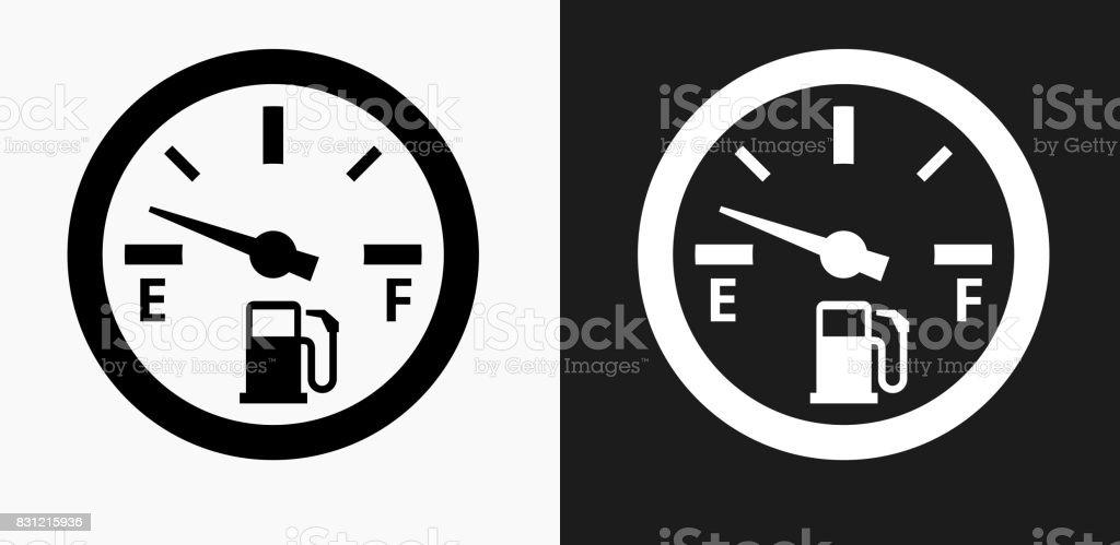 Leere Kraftstoff Meter Symbol Auf Schwarzweißvektorhintergründe ...