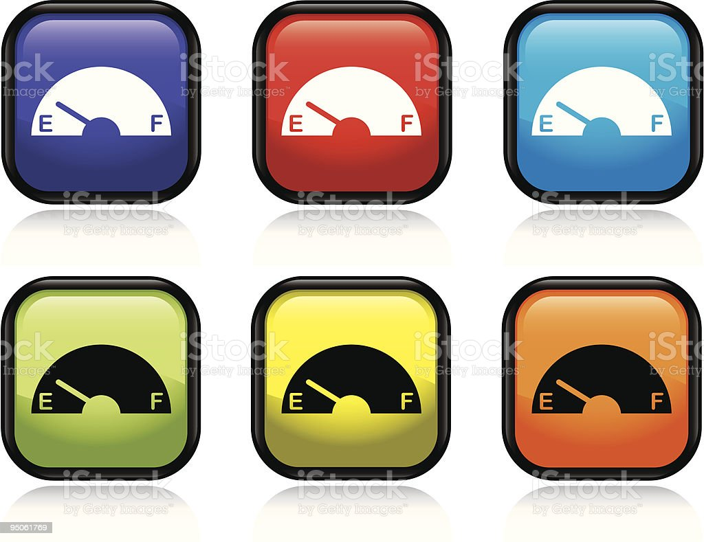 Empty Gas Icon royalty-free stock vector art