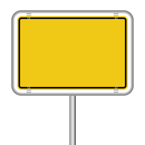 empty german town sign german town sign colored yellow with free copy space vector file entrance sign stock illustrations