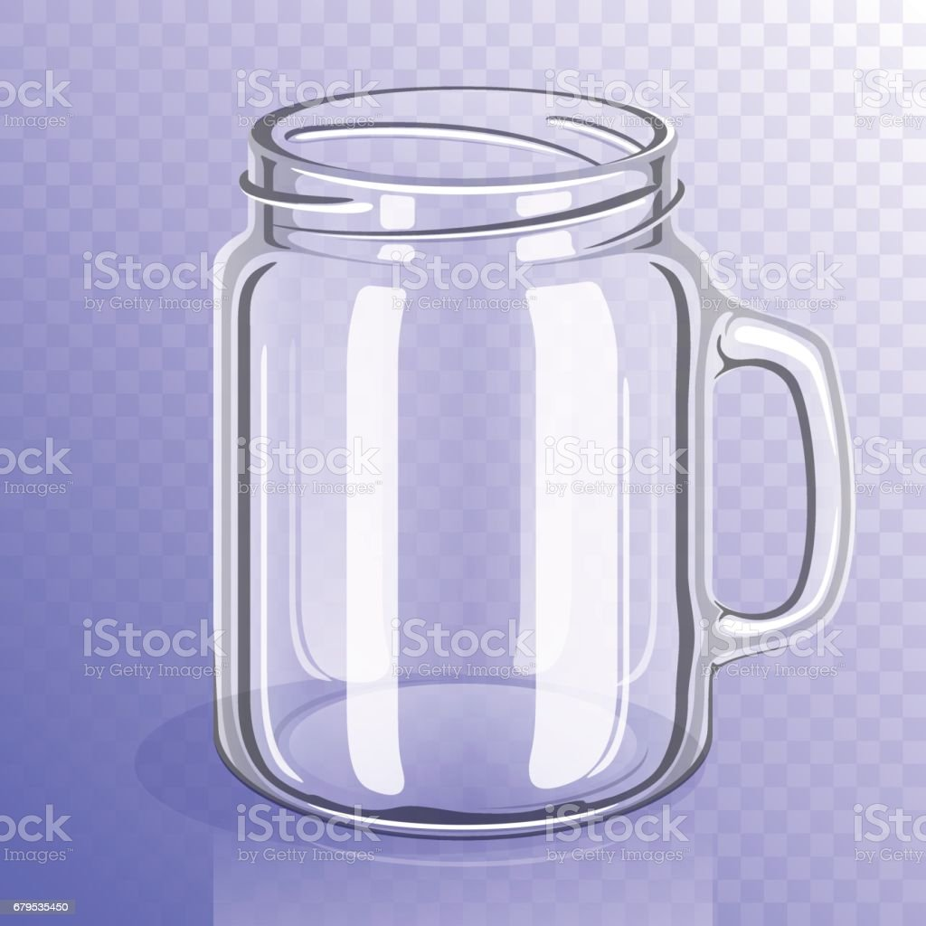 Empty glass jar with handle royalty-free empty glass jar with handle stock vector art & more images of blank