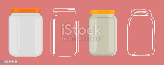 Empty glass jar without transparency