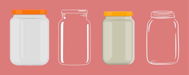 leere glas ohne transparenz - glas stock-grafiken, -clipart, -cartoons und -symbole