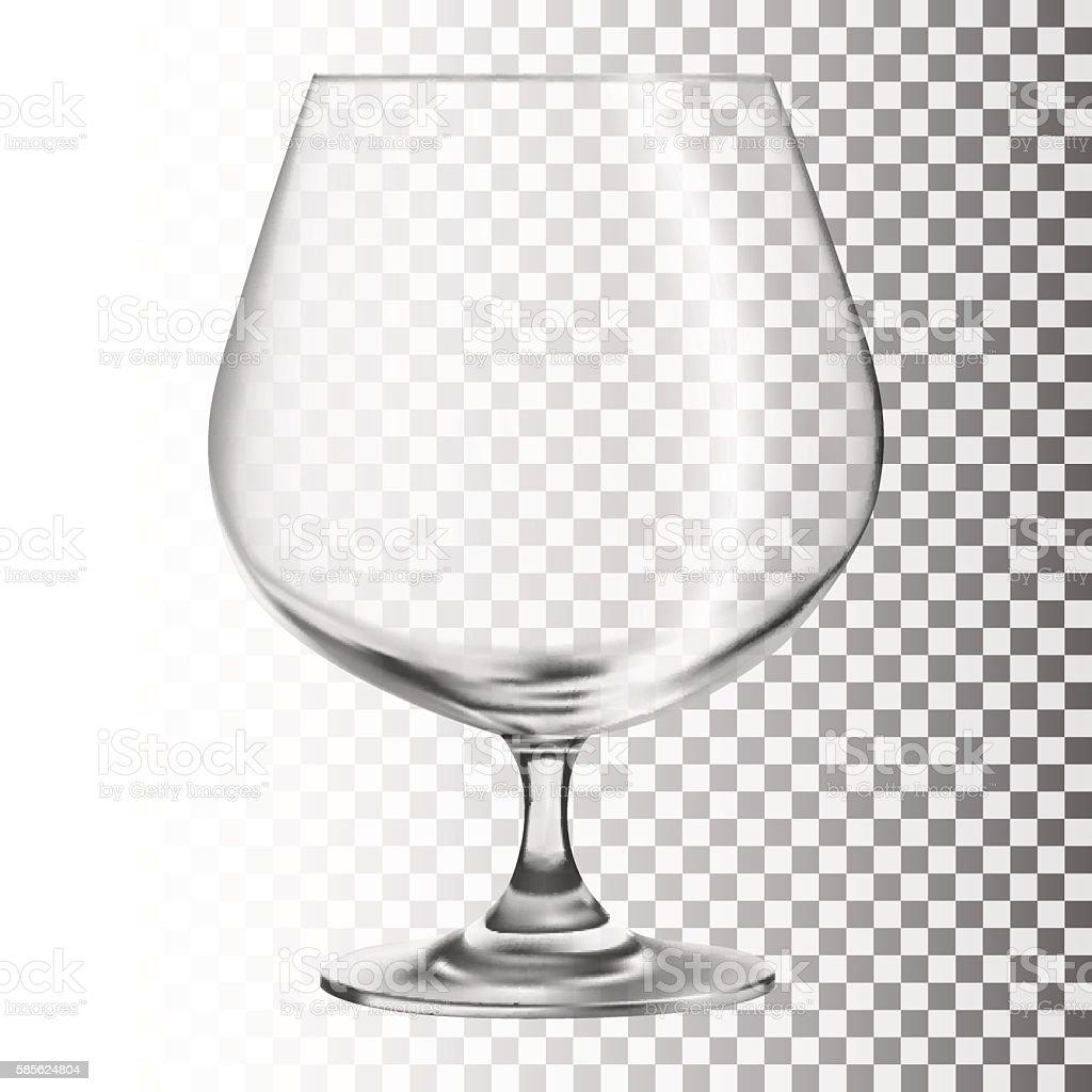 Empty glass. Transparent glass vector art illustration