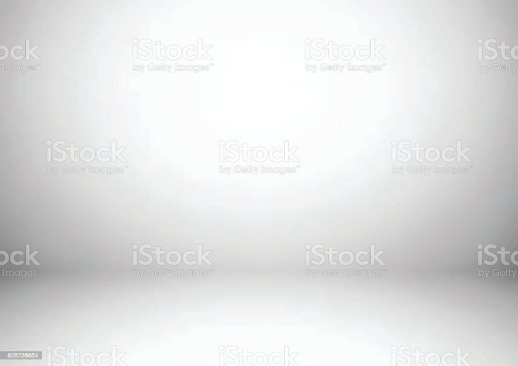 Empty gray studio room background, used as background for display your products vector art illustration