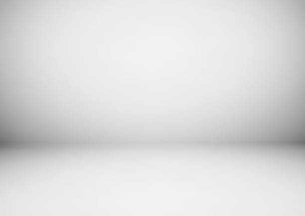 empty gray studio room, used as background for display your products - szare tło stock illustrations