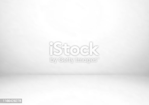istock Empty gray studio room vector background. Can be used for for display or montage your products 1166426278