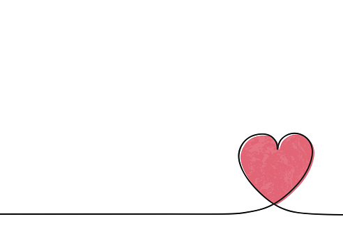 Empty greeting card layout with cute heart. Valentine's Day, Mother's Day and Women's Day concept. Vector