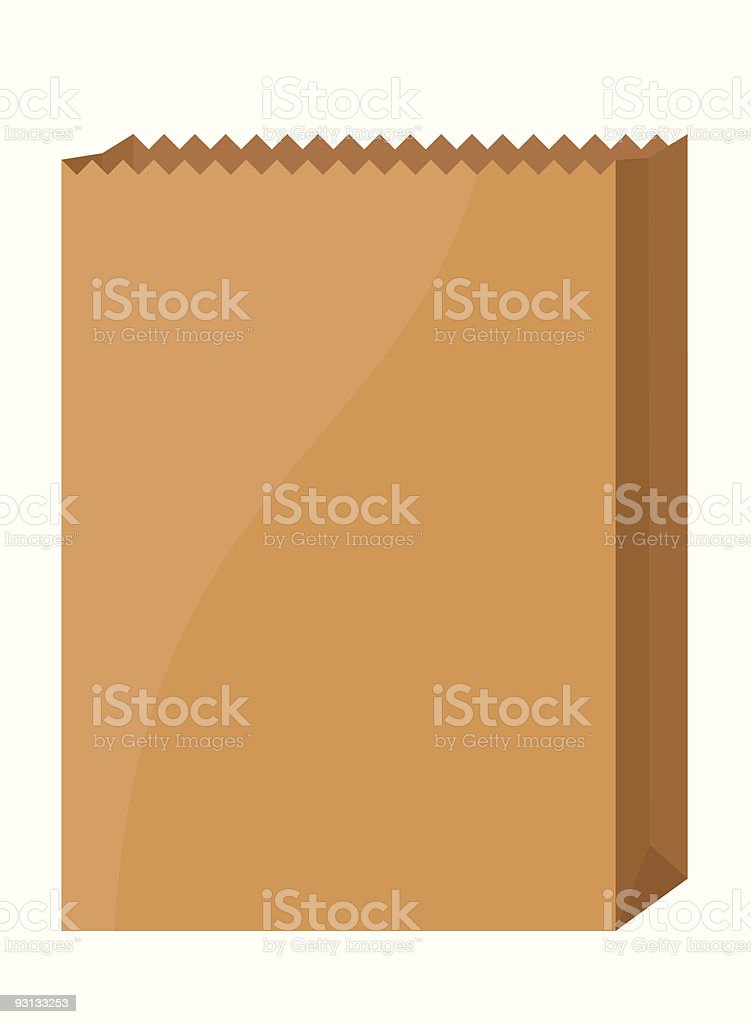 Empty Grocery Bag vector art illustration