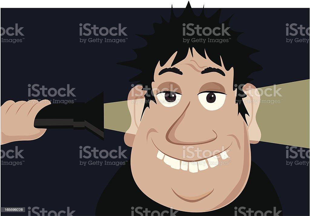 Empty Head Light royalty-free stock vector art