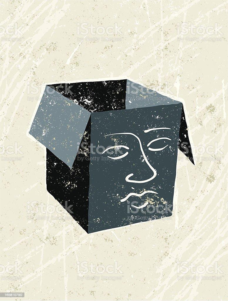 Empty headed, Face on a Box 免版稅 empty headed face on a box 向量插圖及更多 一個人 圖片