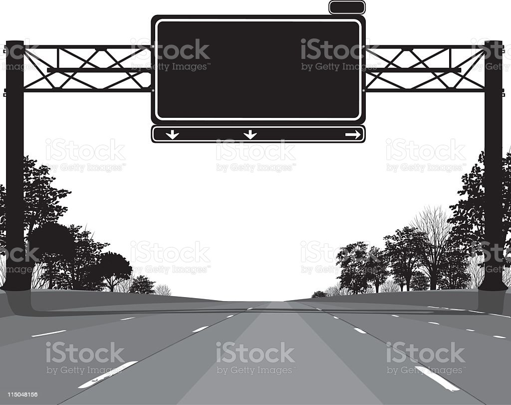 Empty Highway royalty-free stock vector art