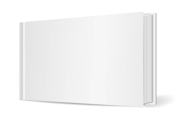 Empty horizontal book cover. Isolated on white background. Mockup to display your design. Vector illustration Empty horizontal book cover. Isolated on white background. Mockup to display your design. Vector illustration e reader stock illustrations