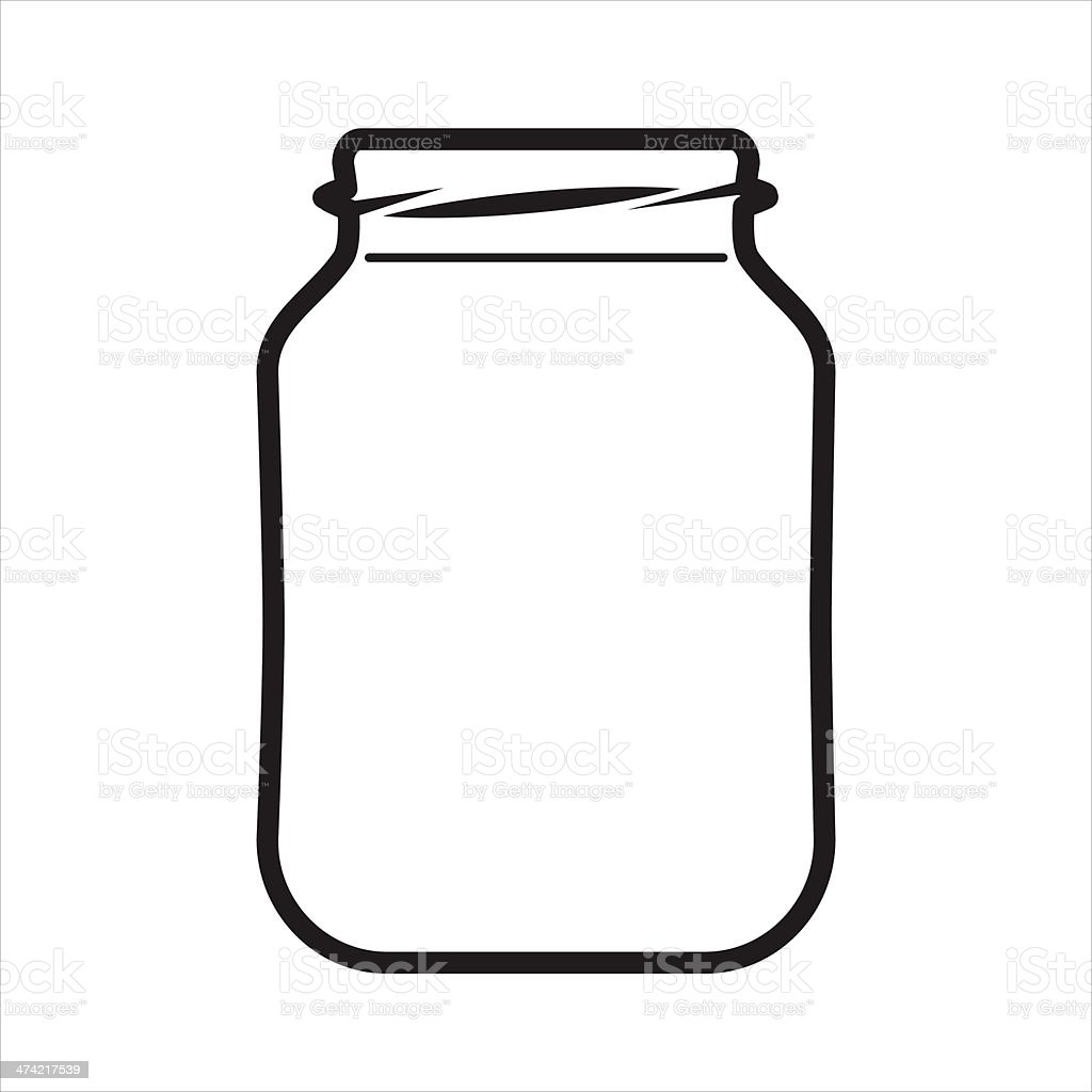 Empty Jar vector art illustration