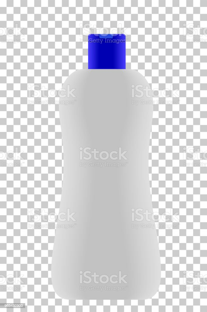 Empty Lotion Bottle blue Cap at transparent effect background royalty-free empty lotion bottle blue cap at transparent effect background stock vector art & more images of bathroom