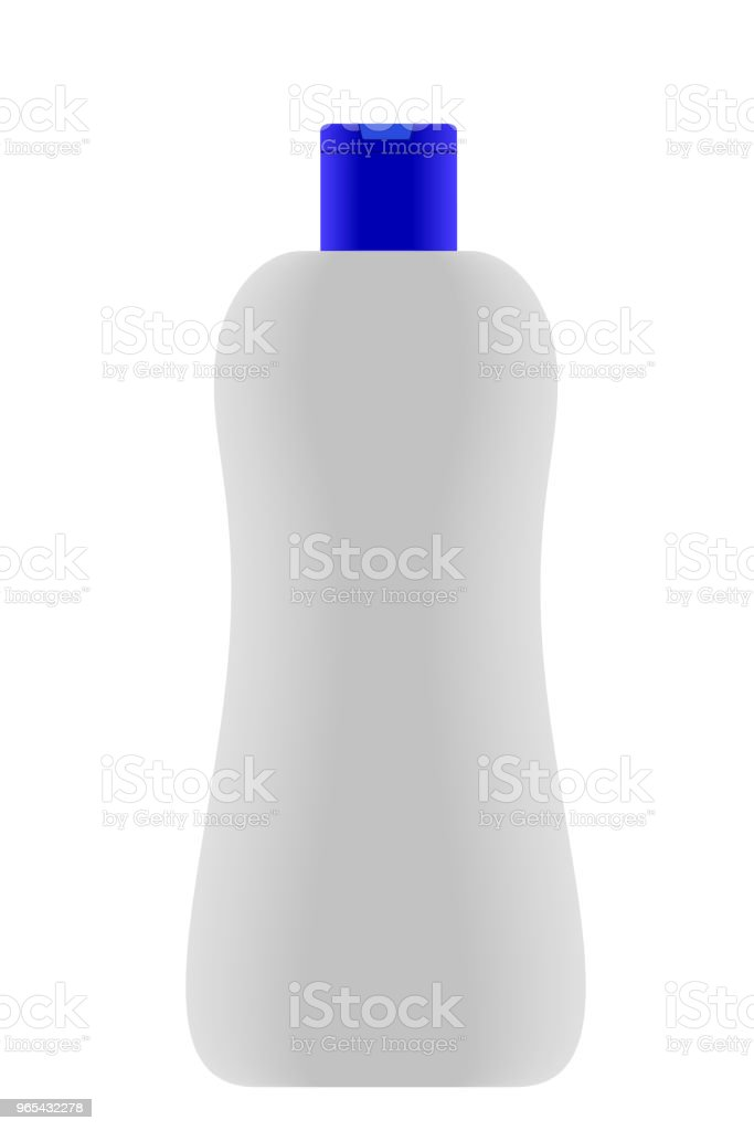 Bouchon de bouteille de Lotion bleue vide - clipart vectoriel de Beauté libre de droits