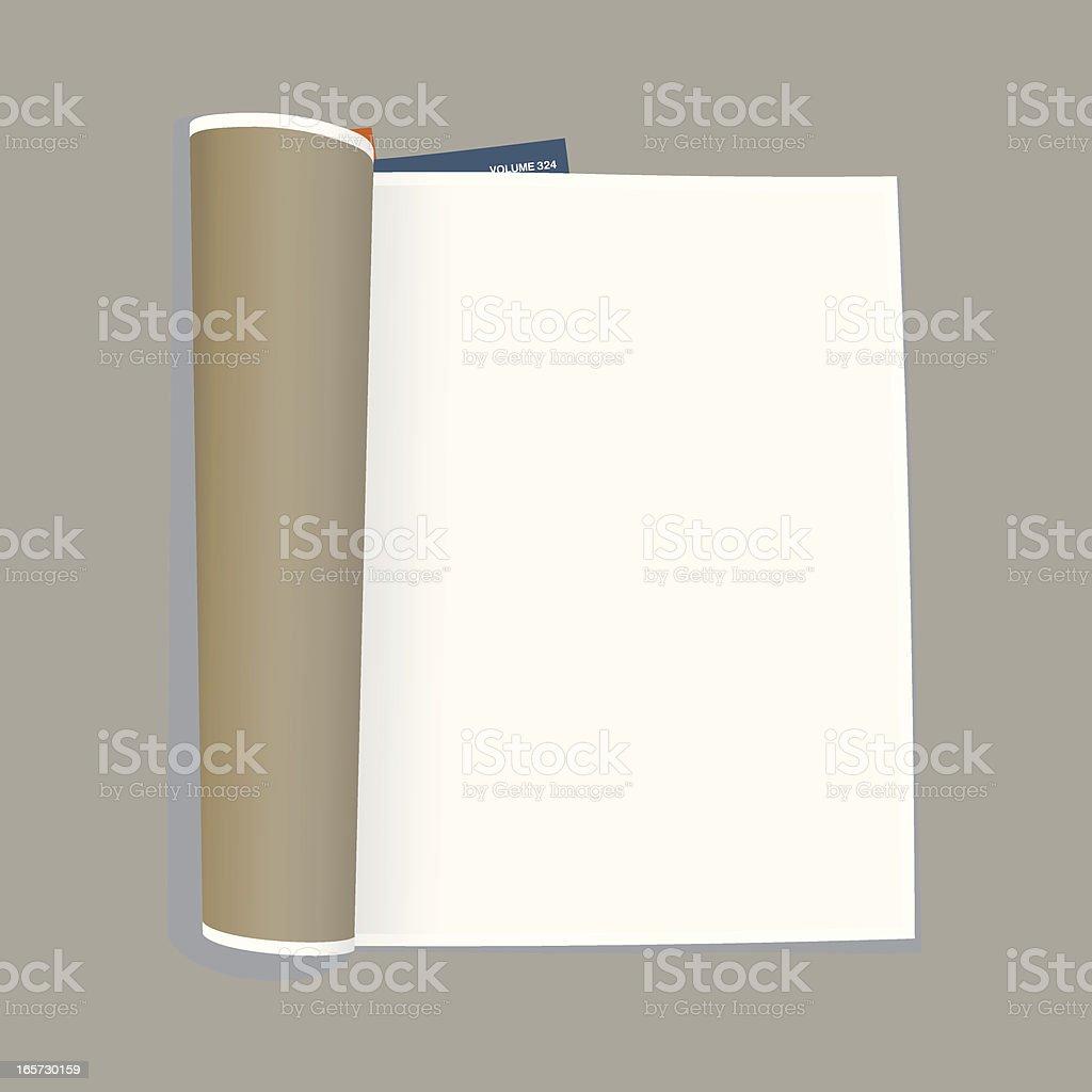 empty magazine template vector art illustration