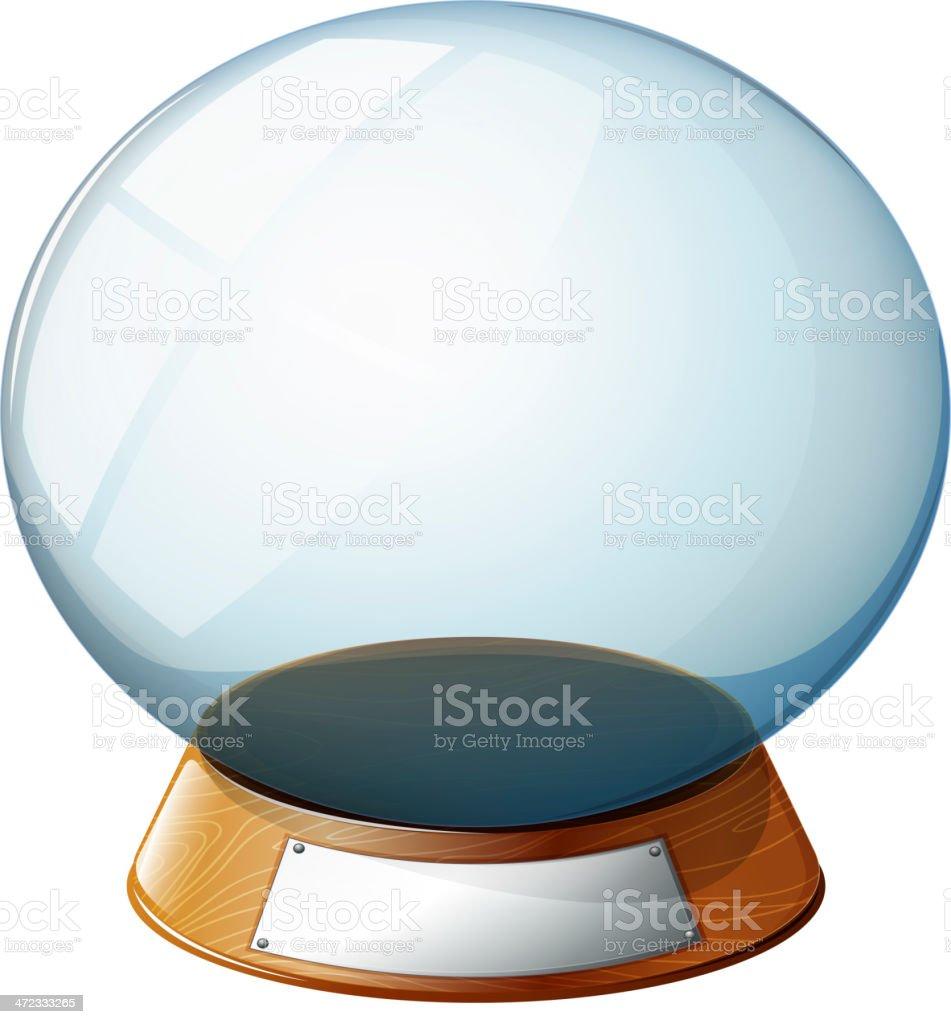 Empty magic ball royalty-free stock vector art