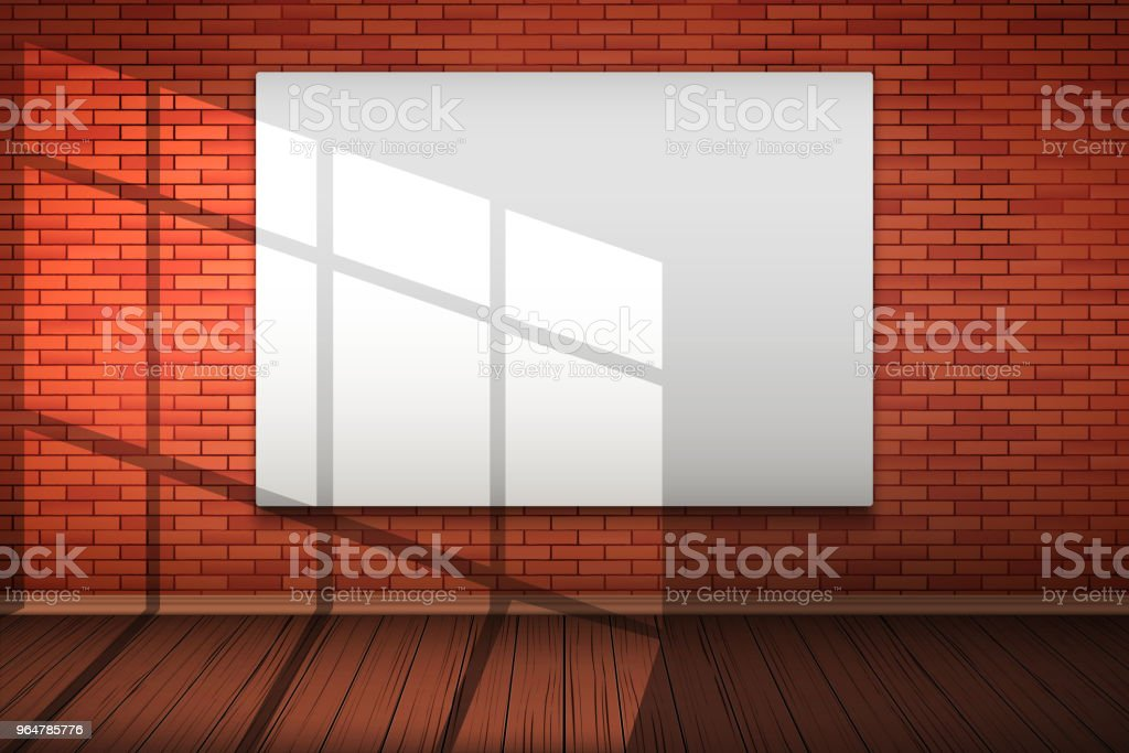 Empty mockup billboard on brick wall royalty-free empty mockup billboard on brick wall stock vector art & more images of advertisement