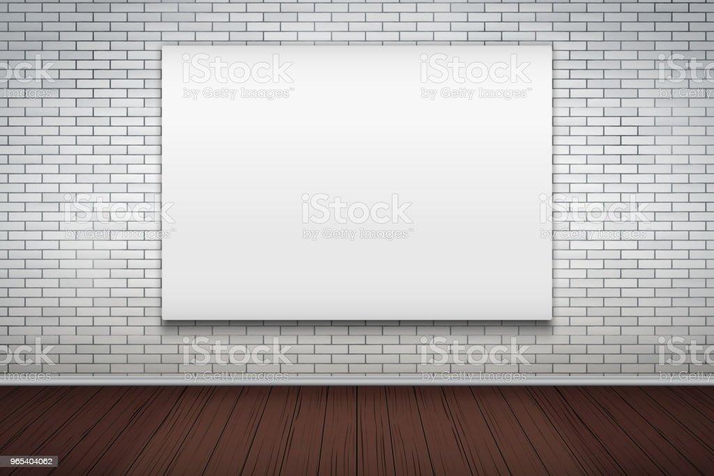 Empty mockup billboard on brick wall empty mockup billboard on brick wall - stockowe grafiki wektorowe i więcej obrazów baner royalty-free