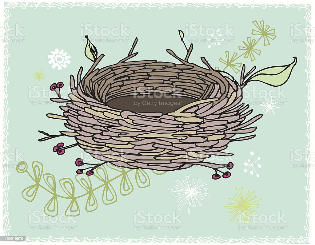 Empty Nest vector art illustration