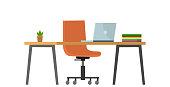 istock Empty no people bank office concept. Vector flat cartoon graphic design illustration 1209254516