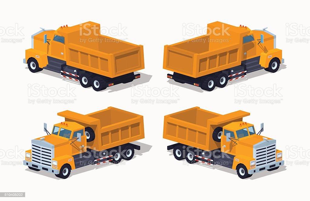 Empty orange dumper vector art illustration