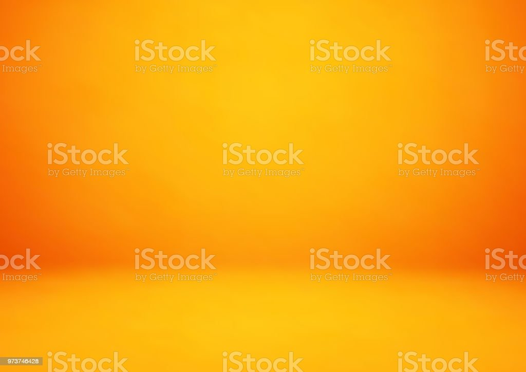 Empty orange studio room, used as background for display your products vector art illustration