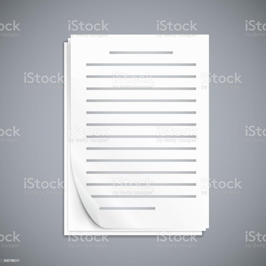 Empty paper three sheets. vector art illustration