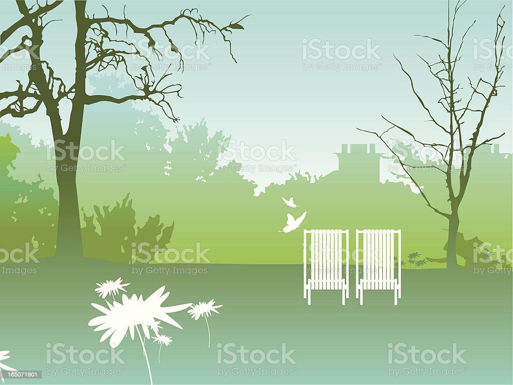 Empty park royalty-free stock vector art