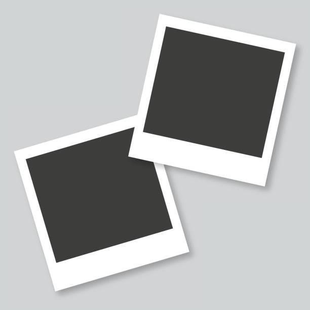 ilustrações, clipart, desenhos animados e ícones de molduras vazias no fundo cinza - polaroid