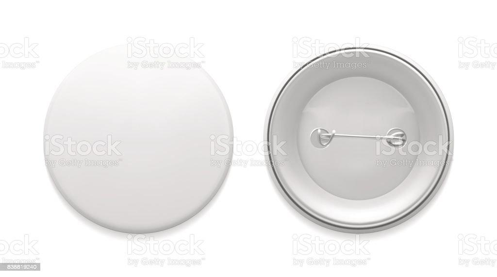 Empty pin badge template vector art illustration