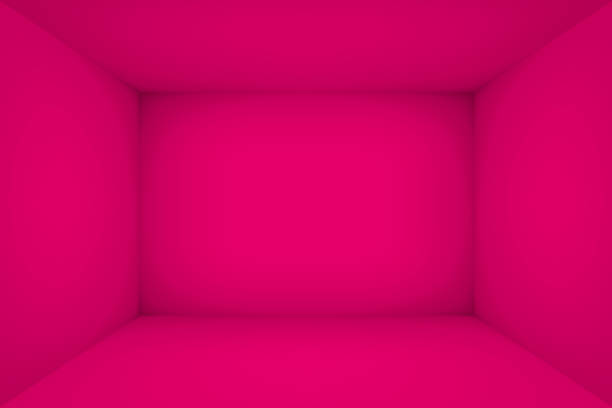 empty pink room. the inner space of the box. vector design illustration. mock up for you business project - empty room stock illustrations