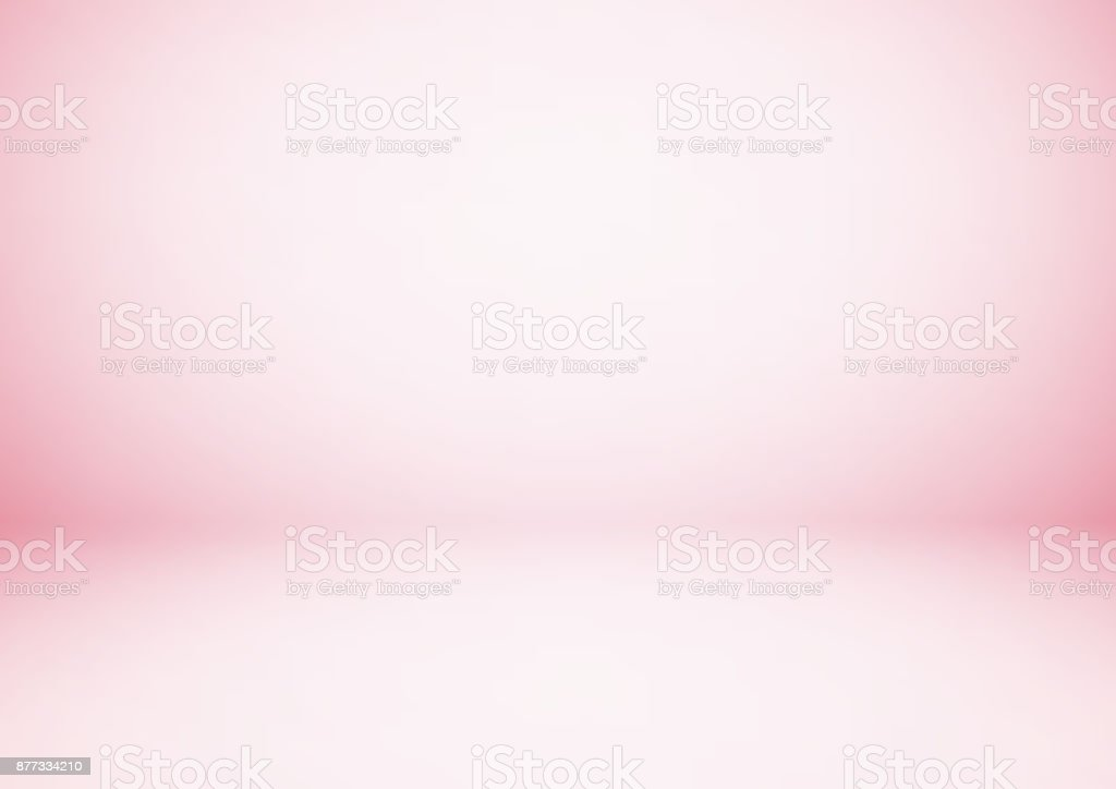 Empty pink studio room, used as background for display your products vector art illustration