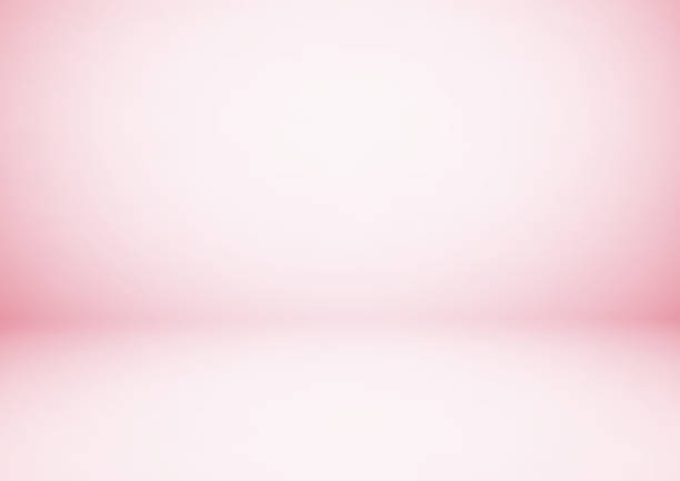 Empty pink studio room, used as background for display your products Empty pink studio room, used as background for display your products studio stock illustrations
