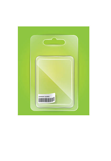 Empty plastic blister for your goods Absolutely transparent change the background as you like and get the right result. blister stock illustrations