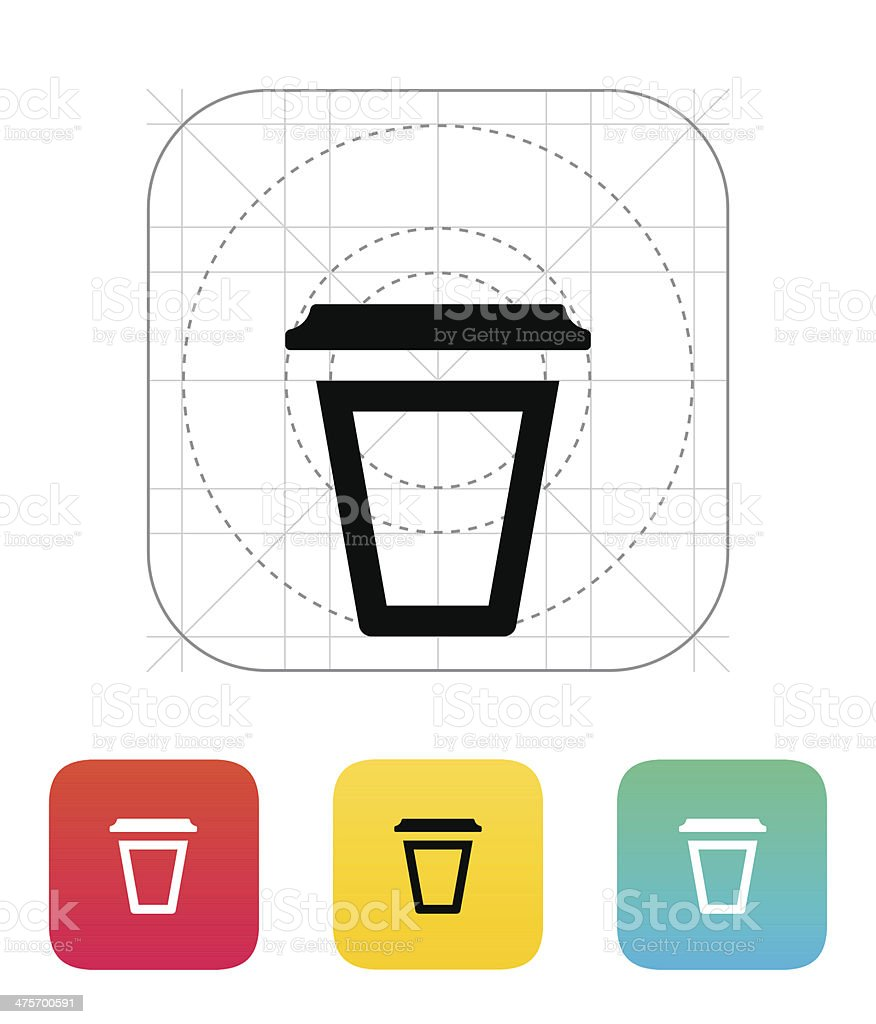 Empty plastic cup icon. royalty-free empty plastic cup icon stock vector art & more images of black color