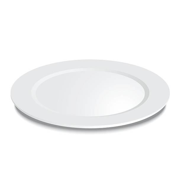 bildbanksillustrationer, clip art samt tecknat material och ikoner med empty plate isolated on a white background - empty plate