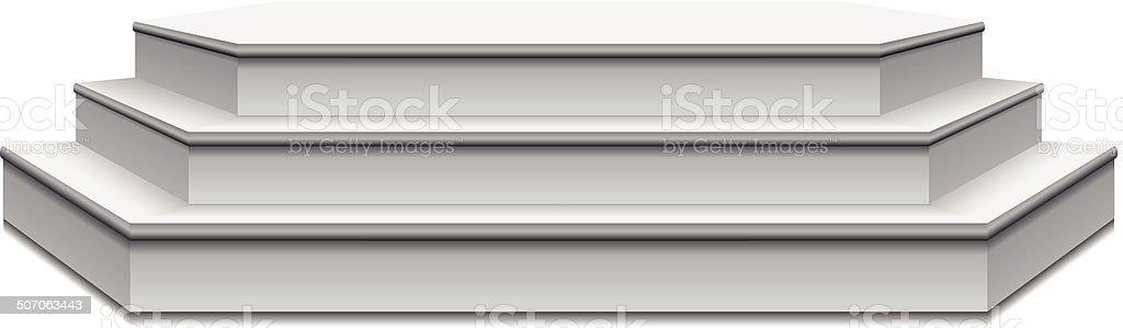 Empty podium vector art illustration