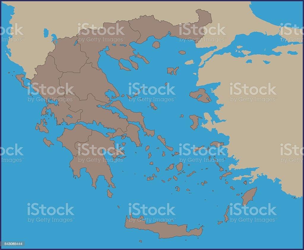 Empty political map of greece stock vector art 543085444 istock empty political map of greece royalty free stock vector art gumiabroncs Images