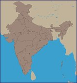 Empty Political Map of India