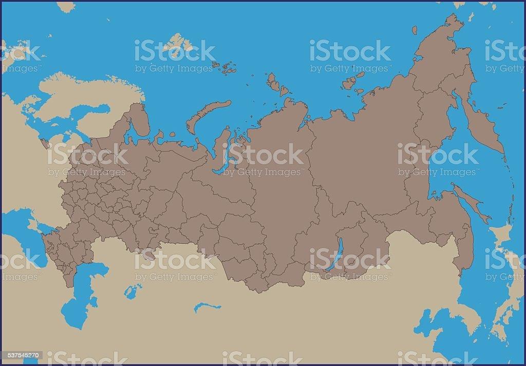 Karte Russland Asien.Leere Politische Karte Von Russland Stock Vektor Art Und Mehr Bilder