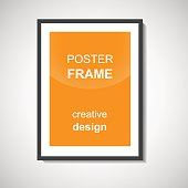 Empty poster frame.
