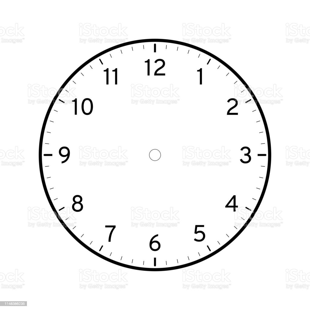 graphic about Printable Face Template known as Vacant Printable Clock Deal with Template Inventory Instance