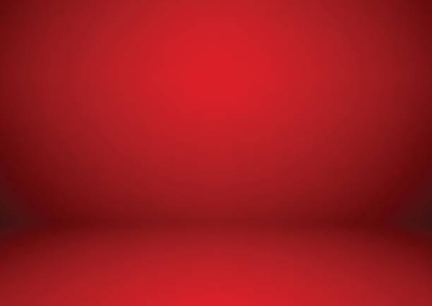 Empty red studio room background, used as background for display your products Empty red studio room background, used as background for display your products studio stock illustrations