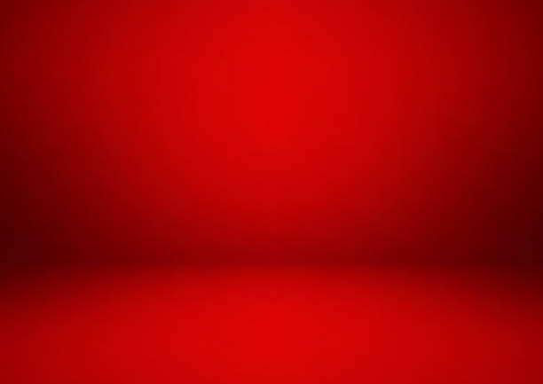 Empty red studio room, used as background for display your products Empty red studio room, used as background for display your products studio stock illustrations