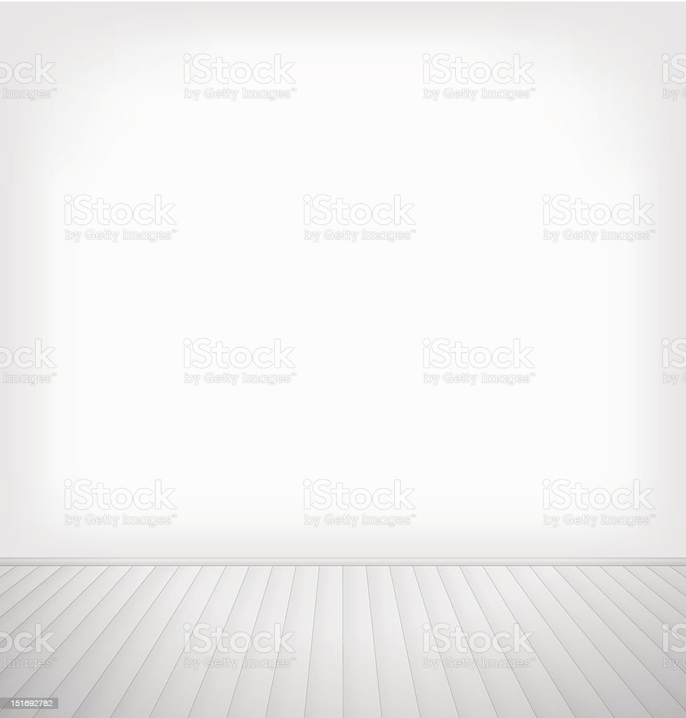 Empty room vector art illustration