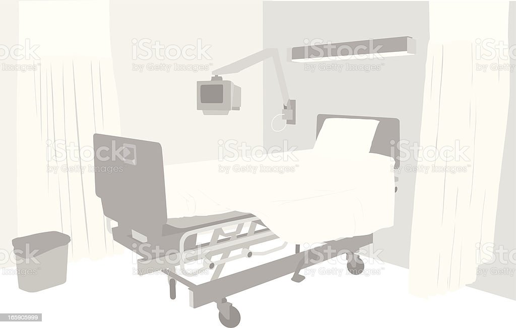 Empty Room Vector Silhouette royalty-free stock vector art